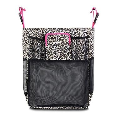 Zodaca Baby Cart Strollers Bag Buggy Pushchair Organizer Basket Storage Bag for Walk Shopping - Leopard Pink Trim,Size: small
