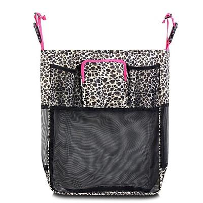 Zodaca Baby Cart Strollers Bag Buggy Pushchair Organizer Basket Storage Bag for Walk Shopping - Leopard Pink Trim
