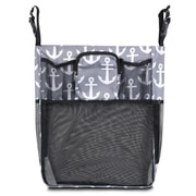Zodaca Baby Cart Strollers Bag Buggy Pushchair Organizer Basket Storage Bag for Walk Shopping - Gray/Black Anchors