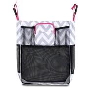 Zodaca Baby Cart Strollers Bag Buggy Pushchair Organizer Basket Storage Bag for Walk Shopping - Gray/White/Pink Trim