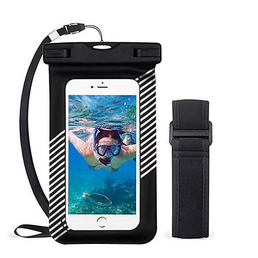 best loved 9b6a8 52779 Insten Universal Underwater Waterproof Pouch Dry Bag Case w/Lanyard/Armband  - Black