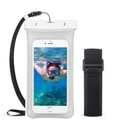Insten Universal Underwater Waterproof Pouch Pack Bag Dry Case w/Lanyard/Armband - Clear
