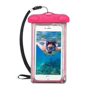 Insten Universal Lightning Underwater Waterproof Pouch Pack Bag Dry Case w/Lanyard - Hot Pink