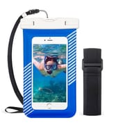 Insten Universal Underwater Waterproof Pouch Dry Bag Case w/Lanyard/Armband - Blue