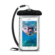 Insten Universal Lightning Underwater Waterproof Pouch Pack Bag Dry Case w/Lanyard - Black