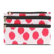 Zodaca Women Coin Purse Wallet Zipper Pouch Bag Card Holder Case - Pink with Black Trim