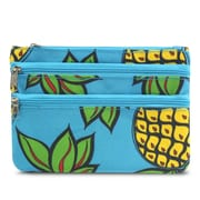 Zodaca Coin Purse Women Zipper Bag Key Wallet Pouch Clutch Key Card Holder - Blue Pineapple