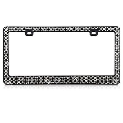 Insten Starry Diamond License Plate Frame