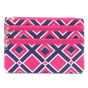 Zodaca Women Coin Purse Wallet Zipper Pouch Bag Card Holder Case - Times Square Pink