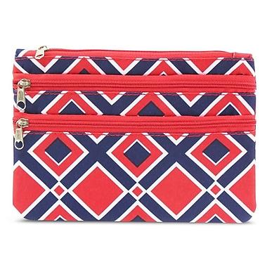 Zodaca Women Coin Purse Wallet Zipper Pouch Bag Card Holder Case - Times Square Red