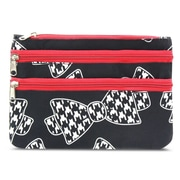 Zodaca Women Coin Purse Wallet Zipper Pouch Bag Card Holder Case - Hounds Tooth Bow Tie