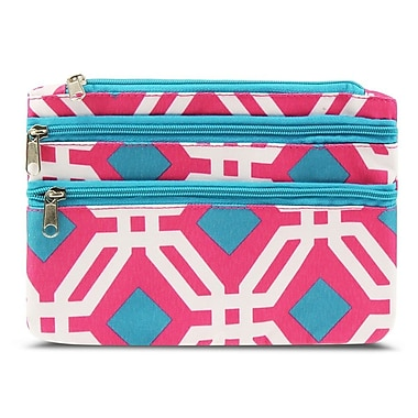 Zodaca Women Coin Purse Wallet Zipper Pouch Bag Card Holder Case - Pink Graphic
