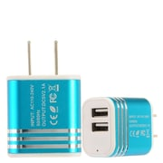 Insten 2-Port USB Quick Charge 2.1A Dual Ports Home Travel AC Wall Charger For Cell Phone Tablet, Blue (2361577)