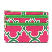 Zodaca Women Coin Purse Wallet Zipper Pouch Bag Card Holder Case - Pink Quatrefoil