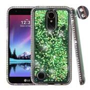 Insten Quicksand Hard Plastic/Soft TPU Rubber Case Cover For LG Harmony/K10 (2017)/K20 Plus/K20 V - Green