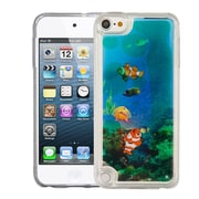 Insten Fish Swimming Under The Sea Quicksand Hard PC/TPU Hybrid Case for Apple iPod Touch 5th Gen / 6th Gen - Blue