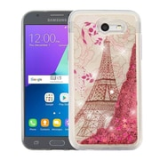 Insten Eiffel Tower/Gold Stars Quicksand Hybrid Case For Samsung Galaxy Amp Prime 2/Express Prime 2/J3 (2017)/J3 Emerge