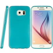 Insten Crystal TPU Rubber Candy Skin Back Gel Case Cover For Samsung Galaxy S6 - Teal