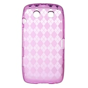 Insten Crystal TPU Rubber Candy Skin Transparent Case Cover For BlackBerry Torch 9850 / 9860 - Hot Pink