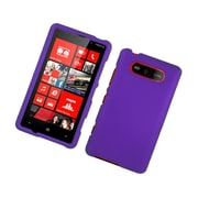 Insten Rubberized Hard Snap On Protective Case Cover For Nokia Lumia 820 - Purple