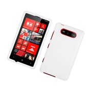 Insten Rubberized Hard Snap On Protective Case Cover For Nokia Lumia 820 - White