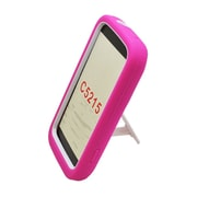 Insten Symbiosis Rugged Hybrid Silicone/Hard PC Stand Case Cover For Kyocera Hydro Edge C5215 - Hot Pink/White