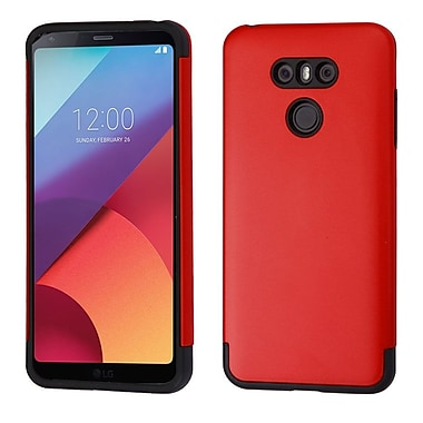 Insten Glossy Hybrid Dual Layer Hard PC/TPU Shockproof Case Cover For LG G6 - Red/Black