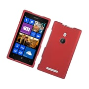 Insten Rubberized Hard Snap On Protective Case Cover For Nokia Lumia 925 - Red