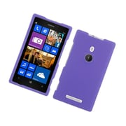Insten Rubberized Hard Snap On Protective Case Cover For Nokia Lumia 925 - Purple