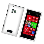 Insten Rubberized Hard Snap On Protective Case Cover For Nokia Lumia 928 - White