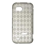 Insten Crystal TPU Rubber Candy Skin Transparent Case Cover For HTC Rezound / Vigor - Smoke