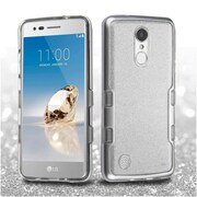 Insten Silver TUFF Panoview Hybrid Hard PC/TPU Dual Layer Case For LG Fortune / K4 (2017) / K8 (2017) / LV3 / Phoenix 3