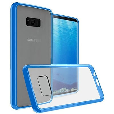 Insten Ultra Slim Hard Crystal Clear Fused Hybrid PC/TPU Case Cover For Samsung Galaxy S8 - Clear/Blue 24230760