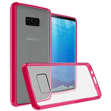 Insten Ultra Slim Hard Crystal Clear Fused Hybrid PC/TPU Case Cover For Samsung Galaxy S8 - Clear/Hot Pink