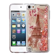 Insten Quicksand Glitter Eiffel Tower Hard Plastic/Soft TPU Rubber Case For Apple iPod Touch 5th Gen/6th Gen - Rose Gold