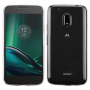 Insten Glossy Transparent TPU Candy Skin Rubber Gel Case Cover For Motorola Moto G4 Play XT1607 - Clear