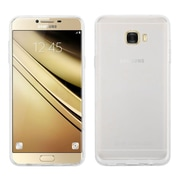 Insten Glossy Transparent TPU Candy Skin Rubber Gel Case Cover For Samsung Galaxy C7 Pro - Clear