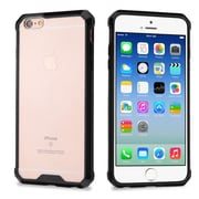 Insten Highly Transparent Sturdy Gummy TPU Rubber Skin Gel Case For Apple iPhone 6 / 6s - Clear/Black