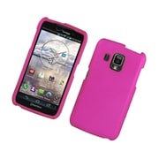 Insten Rubberized Hard Snap On Protective Case Cover For Pantech Perception - Hot Pink