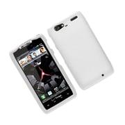Insten Hard Snap On Back Rubber Protective Case Cover For Motorola Droid Razr Maxx - White