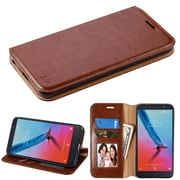 Insten Stand Folio Flip Leather Wallet Flap Pouch Case Cover for ZTE Blade Z Max/Sequoia - Brown
