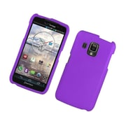 Insten Rubberized Hard Snap On Protective Case Cover For Pantech Perception - Purple