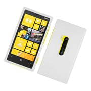 Insten Rubberized Hard Snap On Protective Case Cover For Nokia Lumia 920 - White