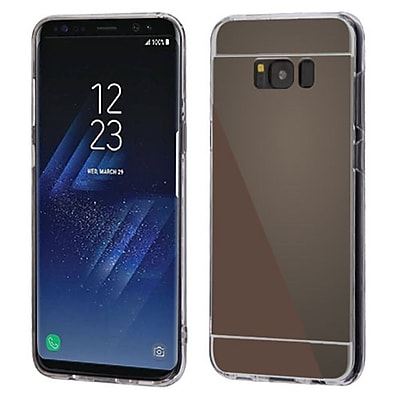 Insten Transparent Clear Gummy TPU Rubber Gel Case Cover For Samsung Galaxy S8+ S8 Plus - Jet Black/Clear 24221637