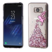 Insten Fairy Glitter (T-Clear) Krystal Gel Series TPU Candy Skin Case For Samsung Galaxy S8 - Clear/Pink