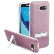 Insten Glitter Hybrid Kickstand PC/TPU Case For Samsung Galaxy J7 (2017)/J7 Perx/J7 Prime/J7 Sky Pro/J7 V - Hot Pink