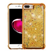 Insten Quicksand Glitter Dual Layer Hybrid Hard Snap-in Case Cover for Apple iPhone 6 Plus/6s Plus/7 Plus - Gold