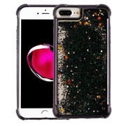 Insten Quicksand Glitter Dual Layer Hybrid Hard Snap-in Case Cover for Apple iPhone 6 Plus/6s Plus/7 Plus - Black