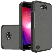 Insten Carbon Fiber Dual Layer Hybrid PC/TPU Rubber Case Cover for LG Fiesta LTE/X Charge/X Power 2