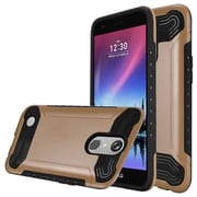 Insten Slim Armor Hard Dual Layer Plastic TPU Case For LG Harmony/K10 (2017)/K20 Plus/K20 V - Gold